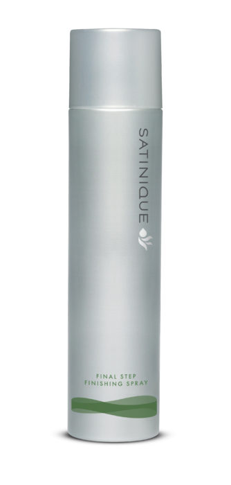 Satinique product shot. Final Step Finish Spray